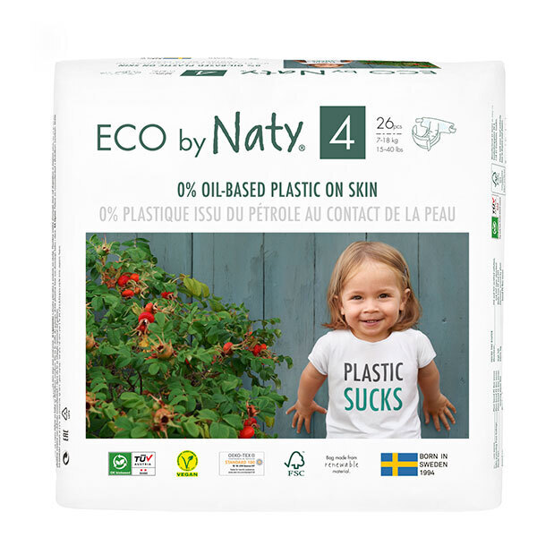 Eco by Naty - 26 Couches écologiques - Taille 4, 7-18kg