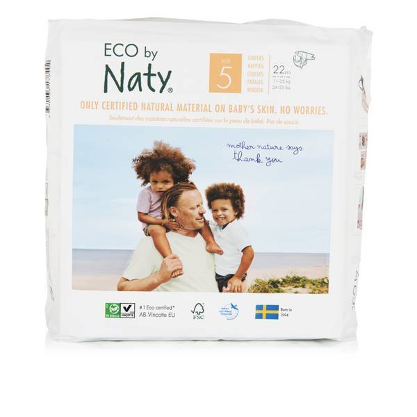 Eco by Naty - 22 Couches écologiques - Taille 5, 12-18kg