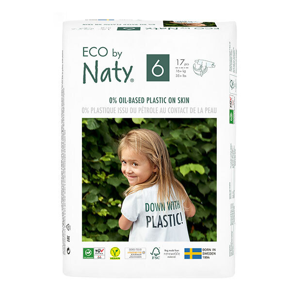 Eco by Naty - Lot 3x17 Couches écologiques - Taille 6, XL 16 kg+