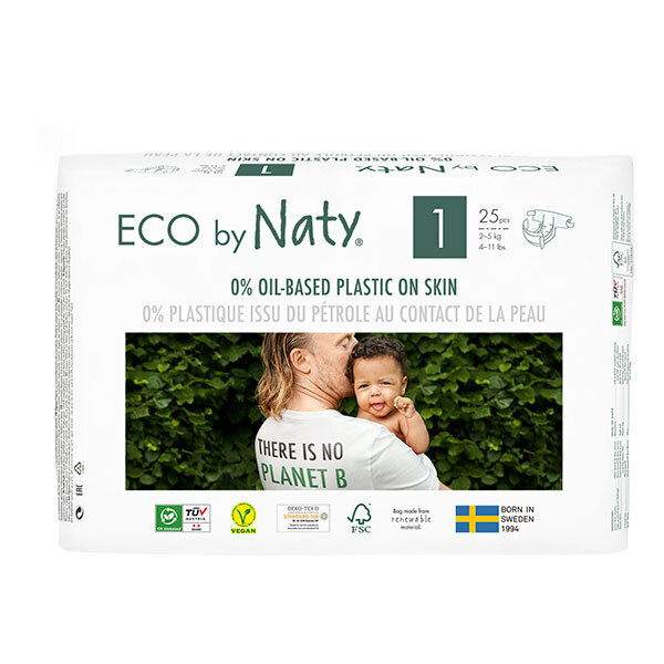 Eco by Naty - Lot 3x25 Couches écologiques - Taille 1, 2-5kg