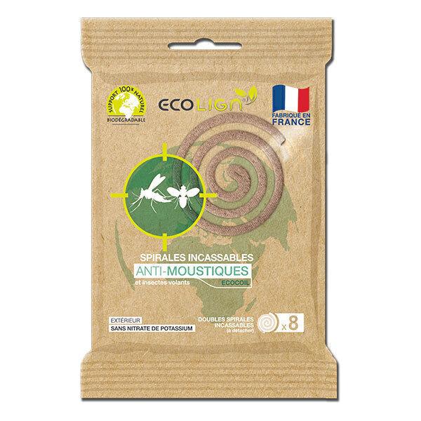 Ecolign - Spirales incassables anti-moustiques x8