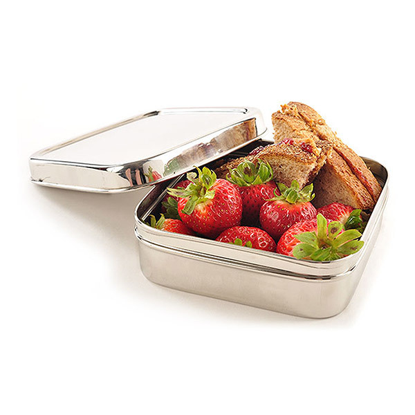ECOlunchbox - Lunch box carrée en inox Solo Cube 60cl