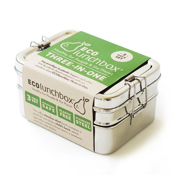 ECOlunchbox - Set de 3 lunch box rectangulaires 80cl