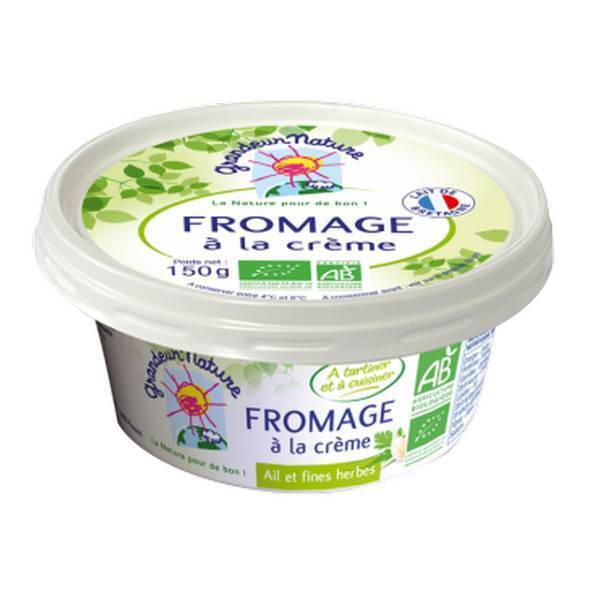 Grandeur Nature - Fromage a tartiner ail et herbes 150g