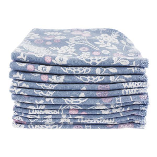 Imsevimse - Lot 12 Lingettes lavables coton bio motif Jardin
