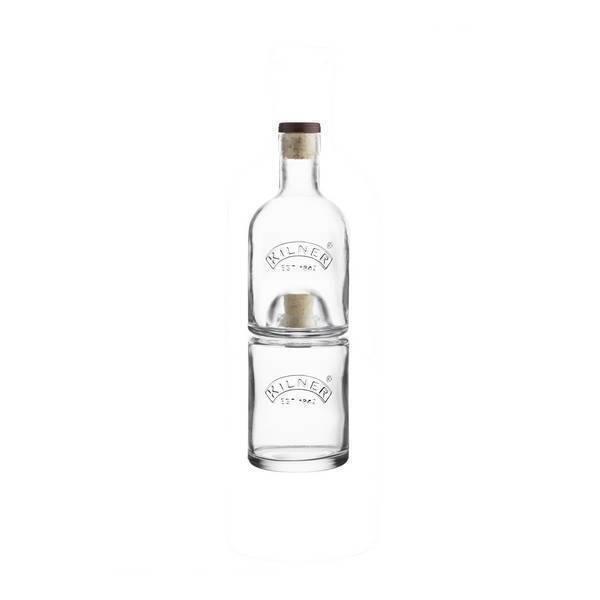 Kilner - Set de 2 bouteilles empilables Huile et Vinaigre 68cl