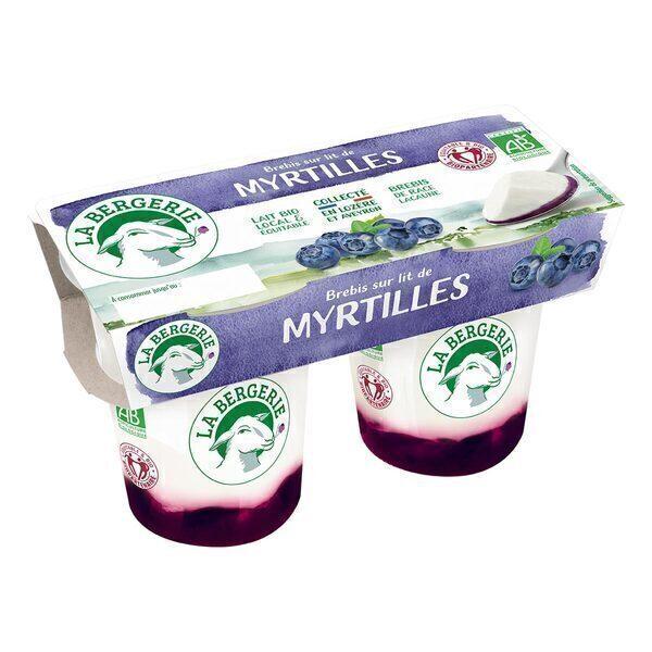 La Bergerie - Yaourt brebis myrtilles 2x125g