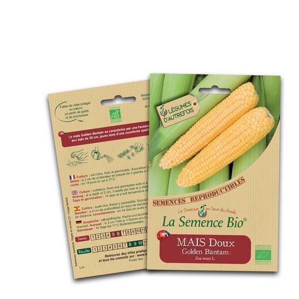 La Semence Bio - Graines de Maïs doux Golden Bantam