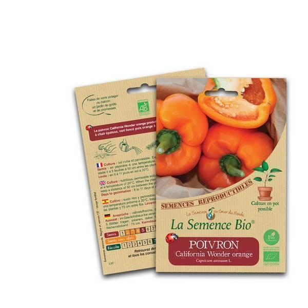 La Semence Bio - Graines de Poivron California Wonder orange