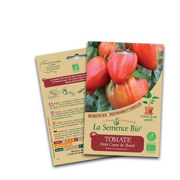 La Semence Bio - Graines de Tomate petit coeur de boeuf
