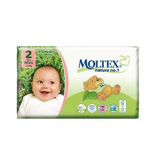 Moltex - 42 Couches Eco-Mini T2, 3-6 kg