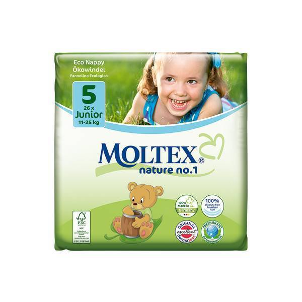 Moltex - Lot 4 x 26 Couches Eco-Junior T5, 11-25 kg