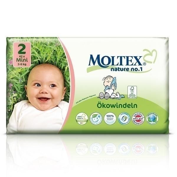 Moltex - Lot 4 x 42 Couches Eco-Mini T2, 3-6 kg