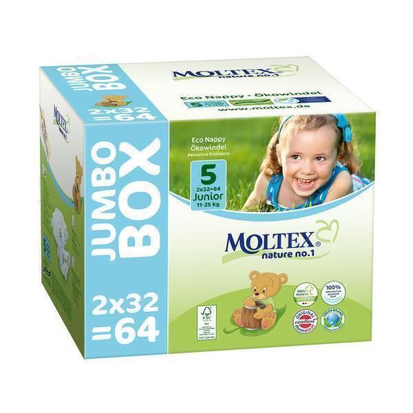 Moltex - Lot 4 x 64 Couches T5 Eco-junior 11-25kg - Jumbo Box