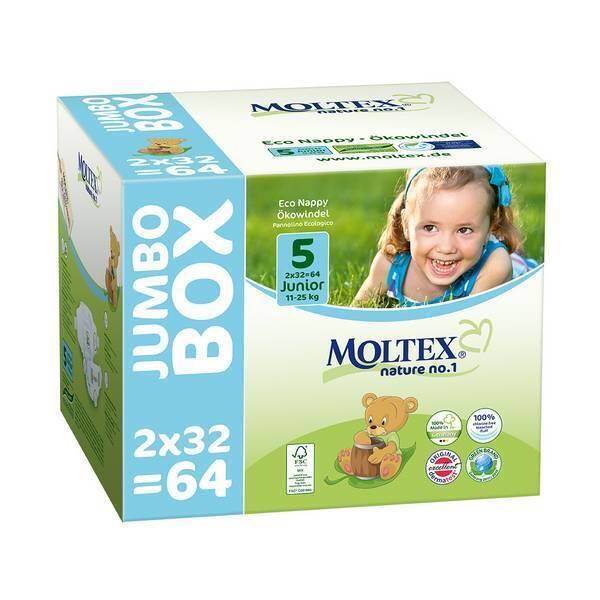 Moltex - Lot 8 x 64 Couches T5 Eco-junior 11-25kg - Jumbo Box
