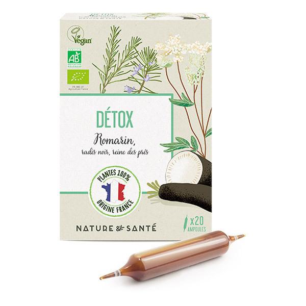 Nature & Santé - Ampoules Détox Bio 20x10 ml