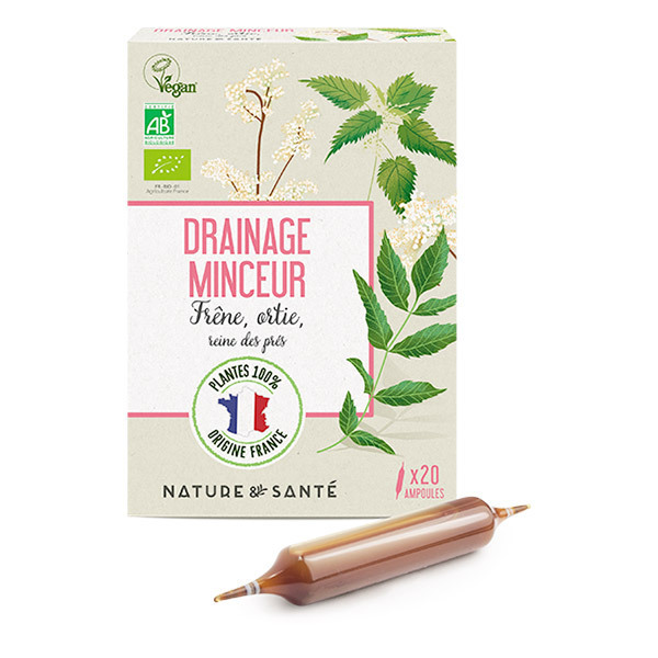 Nature & Santé - Ampoules Drainage Minceur Bio 20x10ml