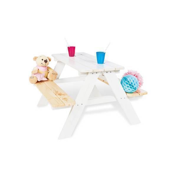 Pinolino - Ensemble de table et bancs Nicki für 4 - Blanc
