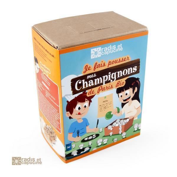 Radis et Capucine - Kit de culture pour enfant Champignons de Paris bio