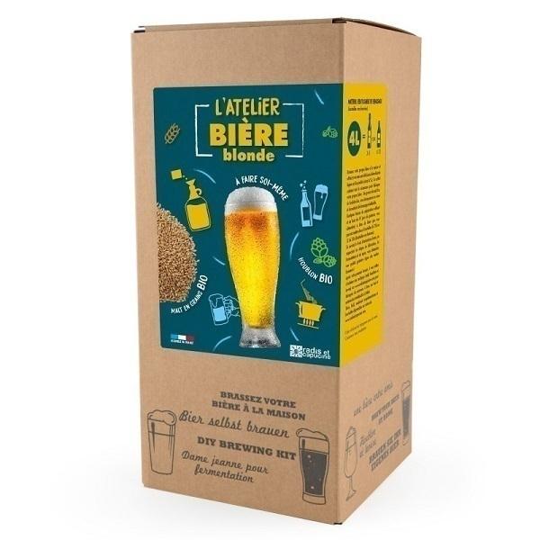 Radis et Capucine - Coffret Brassage de bière blonde Bio tout grain 4L