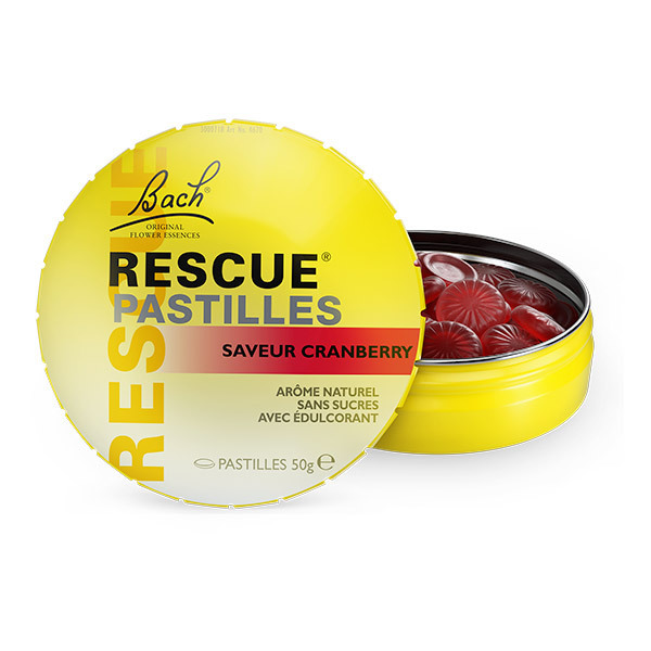 RESCUE® - Lot de 2 x Rescue Pastilles saveur Cranberry - 2 x 50g