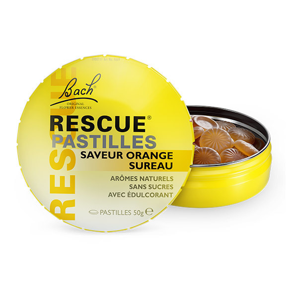 RESCUE® - Lot de 2 x Rescue Pastilles saveur Orange-Sureau - 2 x 50g