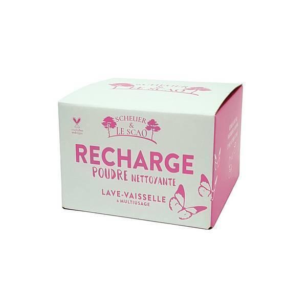Scheuer & Le Scao - Qilav'tout - Poudre Multi usage et lave vaisselle recharge 470g