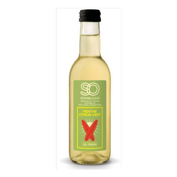 So Kombucha - So Kombucha menthe citron vert 250ml