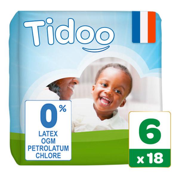 Tidoo - 18 Couches T6 16-30kg Hypoallergéniques Nature