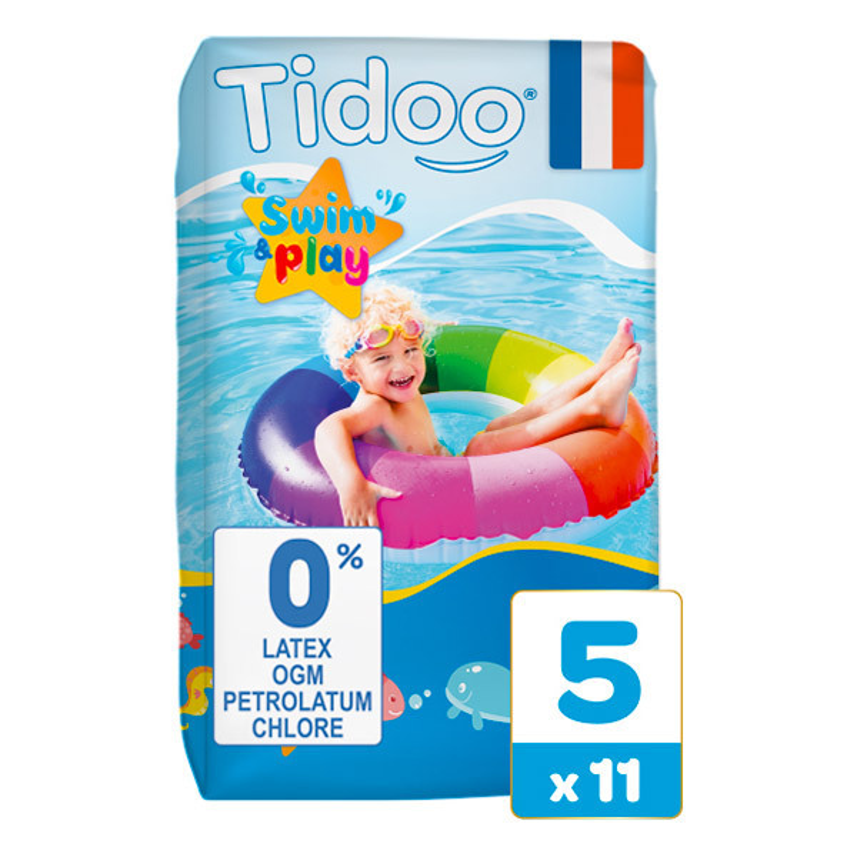 Tidoo - Pack 3x11 Culottes de Bain T5 12-18kg Hypoallergéniques