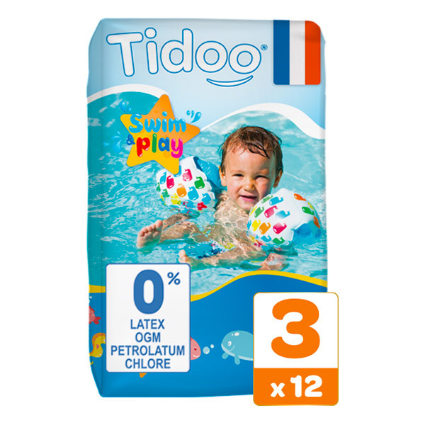 Tidoo - Pack 3x12 Couches de Bain T3 4-9kg Hypoallergéniques