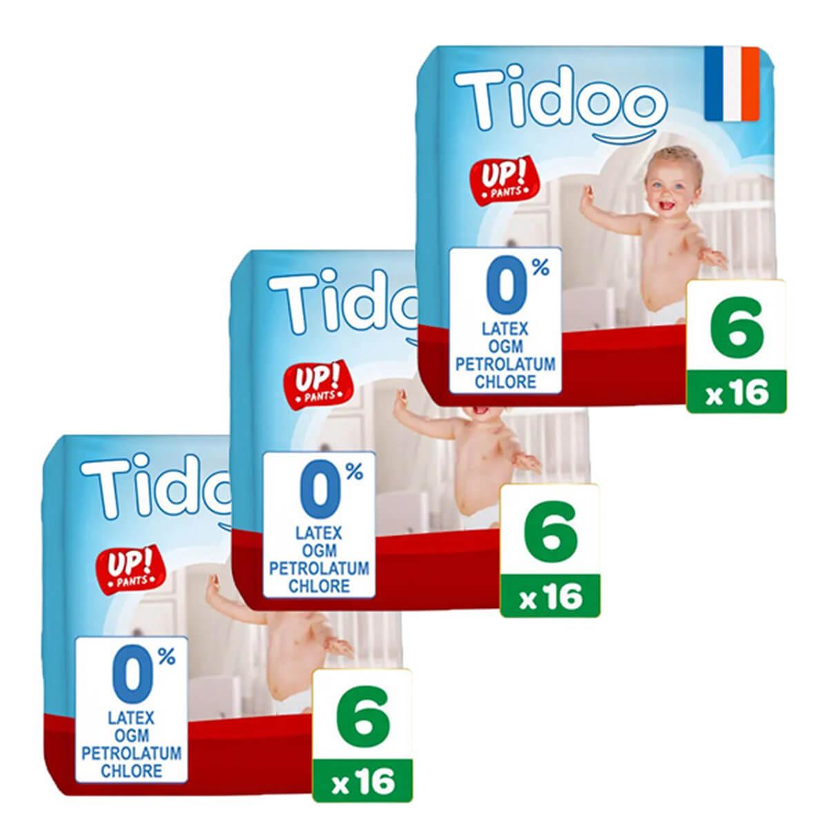 Tidoo - Pack 3x16 Culottes d'apprentissage T6 16-30kg Nature