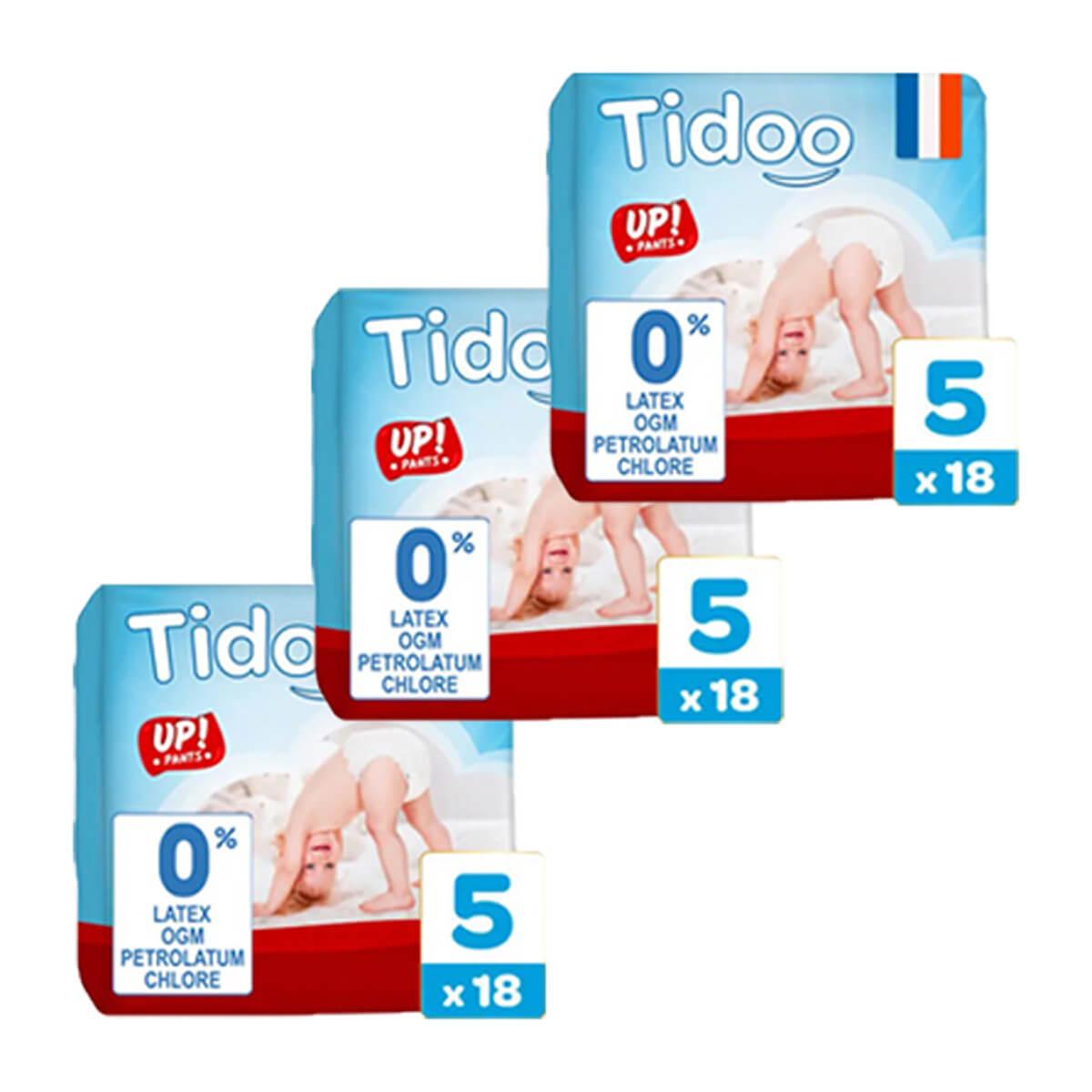 Tidoo - Pack 3x18 Culottes d'apprentissage T5 12-18kg  Nature
