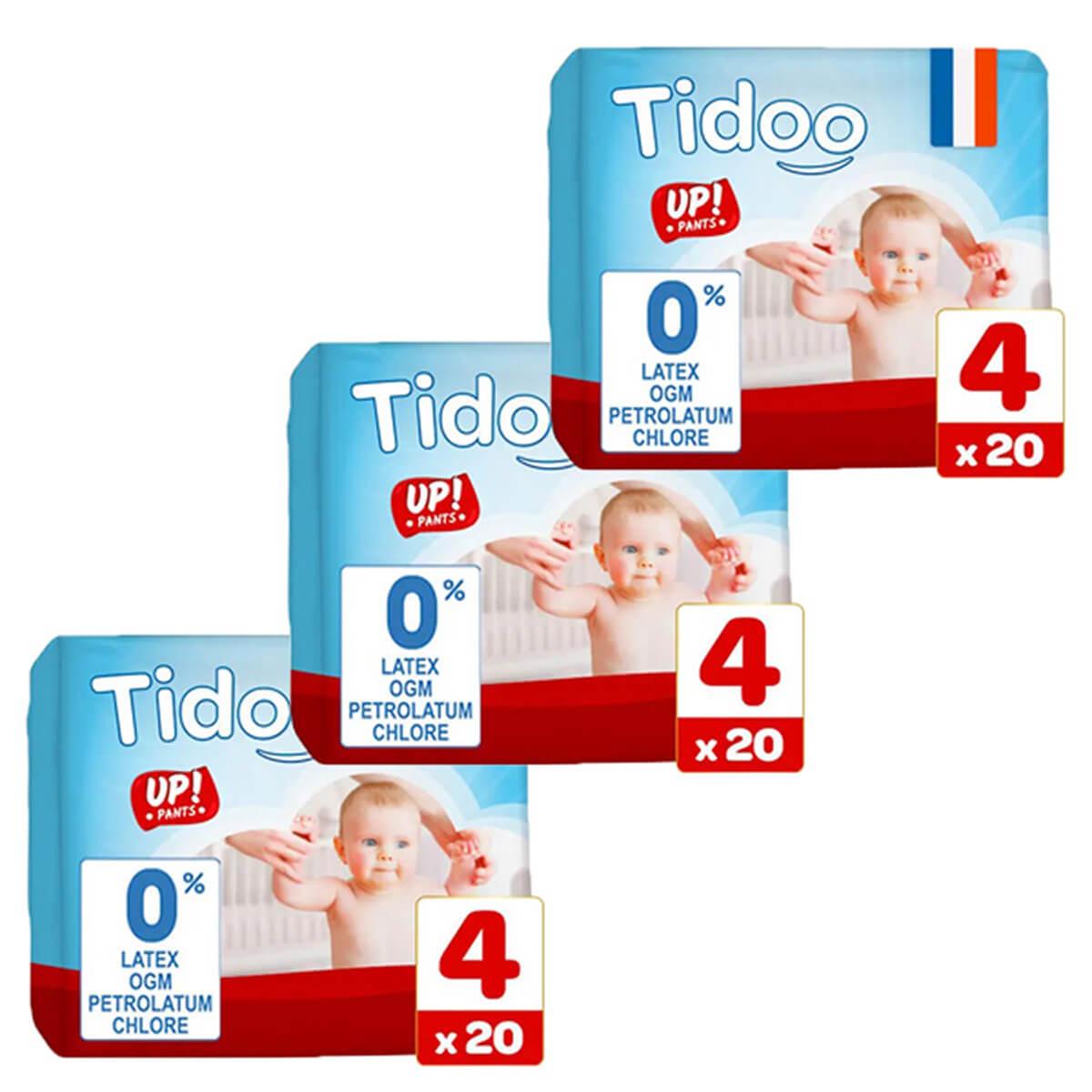 Tidoo - Pack 3x20 Culottes d'apprentissage T4 8-15kg Nature