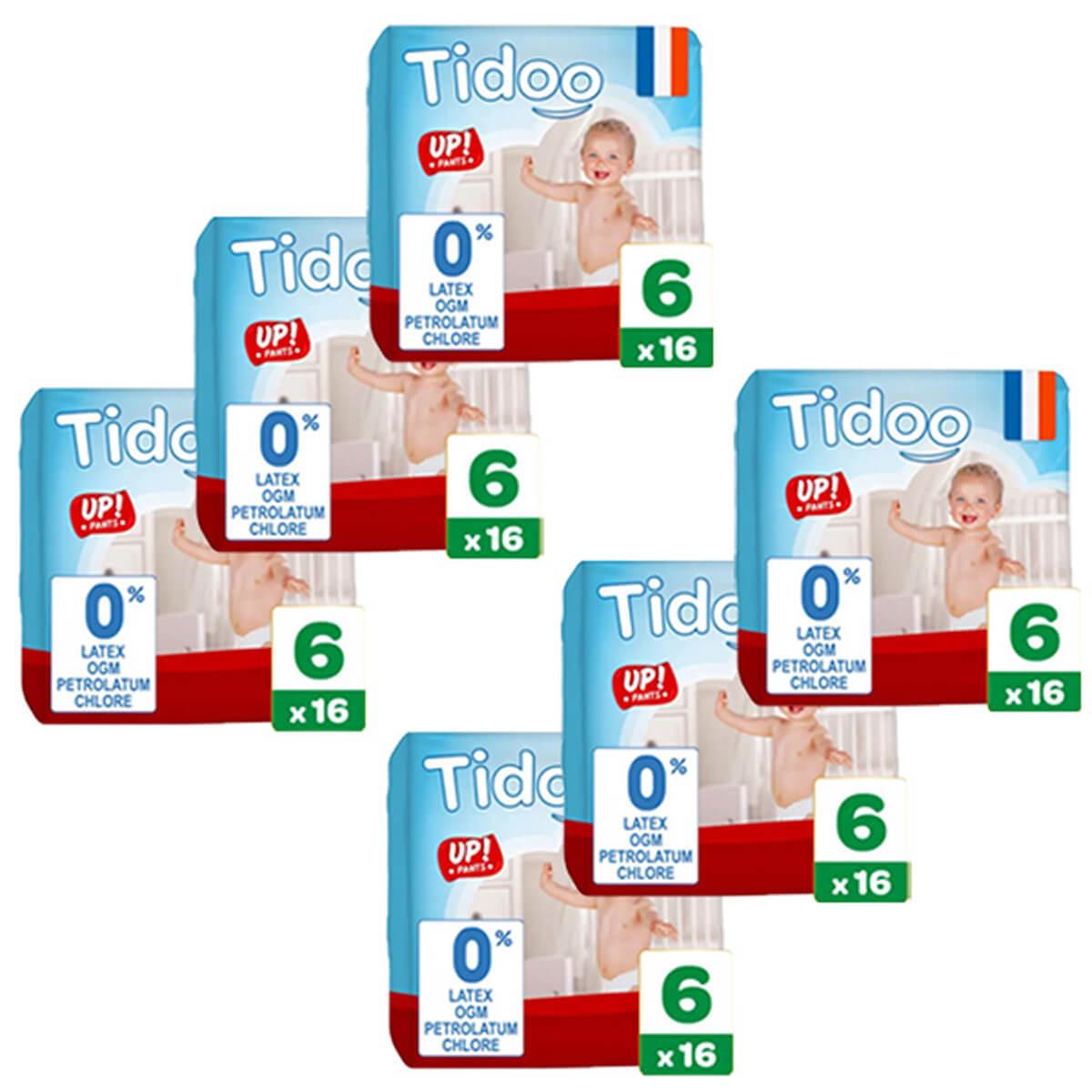 Tidoo - Pack 6x16 Culottes d'apprentissage T6 16-30kg Nature