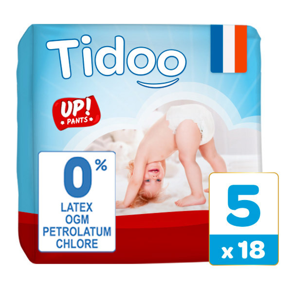 Tidoo - Pack 6x18 Culottes d'apprentissage T5 12-18kg  Nature