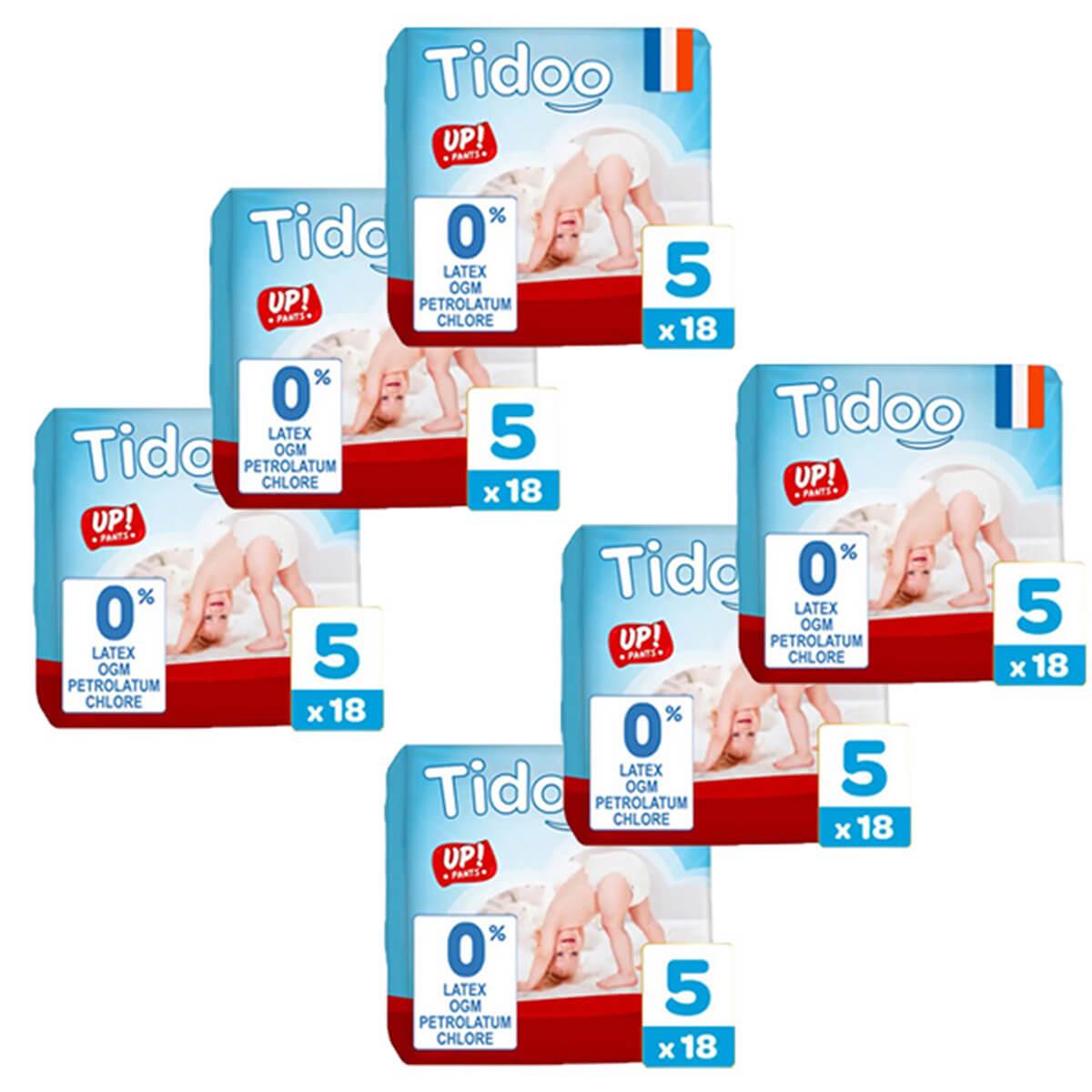 Tidoo - Pack 6x18 Culottes d'apprentissage T5 12-18kg  Nature