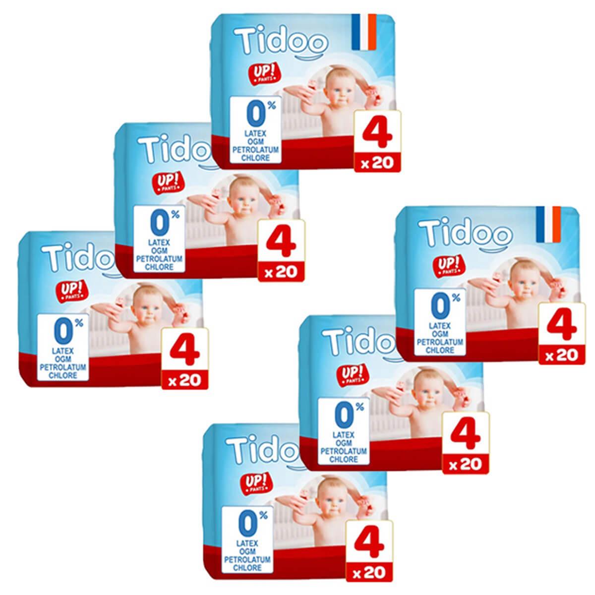 Tidoo - Pack 6x20 Culottes d'apprentissage T4 8-15kg  Nature