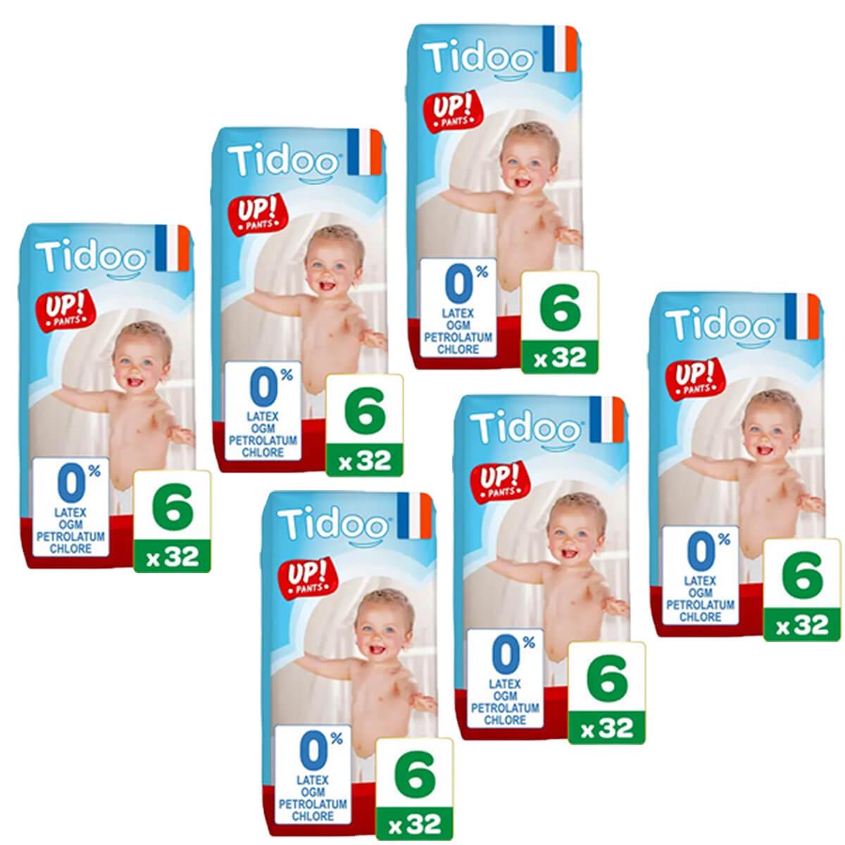 Tidoo - Pack 6x32 Culottes d'apprentissage T6 16-30kg Nature