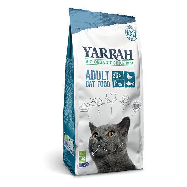 Yarrah - Lot de 2 x Croquettes bio chat Poisson 800g