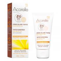 Acorelle - Crème Solaire visage teinte abricot SPF50 - 50 ml