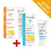 Acorelle - Offre Spray Solaire SPF 30 100ml + crème solaire bébé 50ml