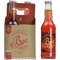 Bec Soda - Lot de 4 Boissons gazeuse Bec Canneberge bio - 4 x 275mL