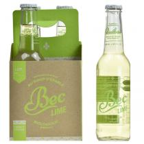 Bec Soda - Lot de 4 Boissons gazeuse Bec Lime bio - 4 x 275mL