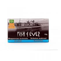 Fish4Ever - Lot de 3 boites de Maquereaux au naturel, pauvre en sel 125g