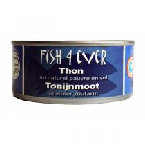 Fish4Ever - Lot de 3 boites de Thon au naturel, pauvre en sel 160 gr