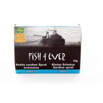 Fish4Ever - Lot de 3 Petites sardines au naturel 105 gr