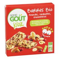 Good Gout - Barres Bio Kidz Amandes cranberries 60g