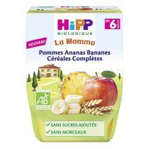 HiPP - Purée pommes ananas bananes céréales 2x190g