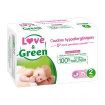 Love & Green - Pack 8x23 Couches hypoallergéniques - T1, 2-5Kg